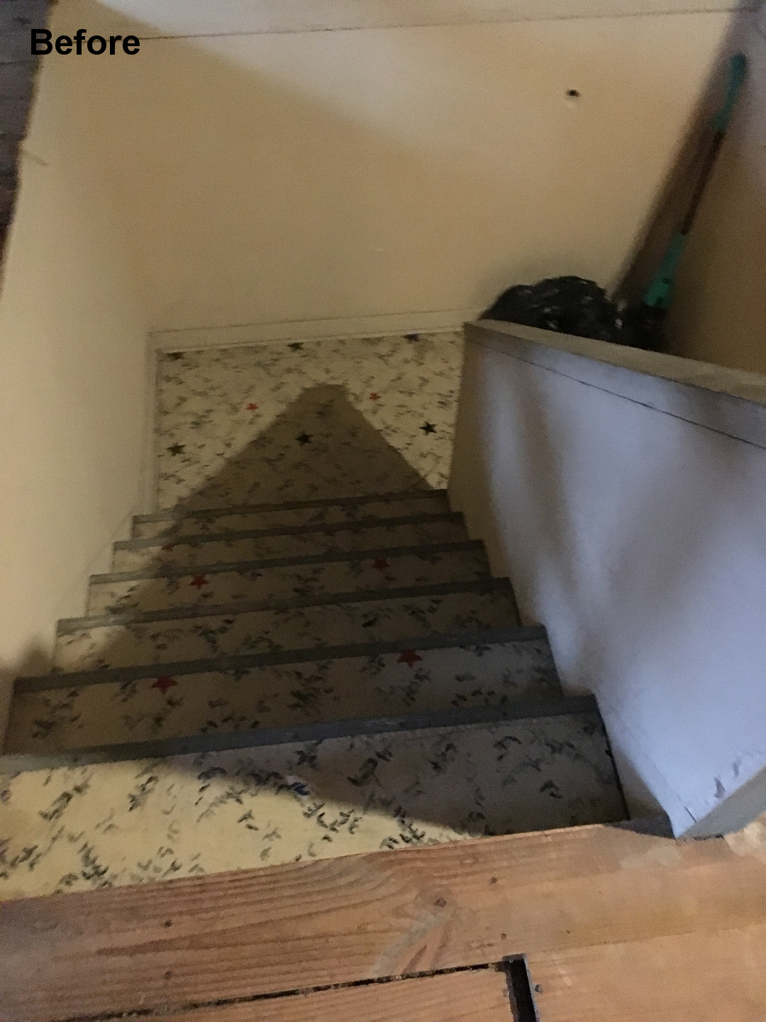 Chicago Unfinished Attic Staircase Before