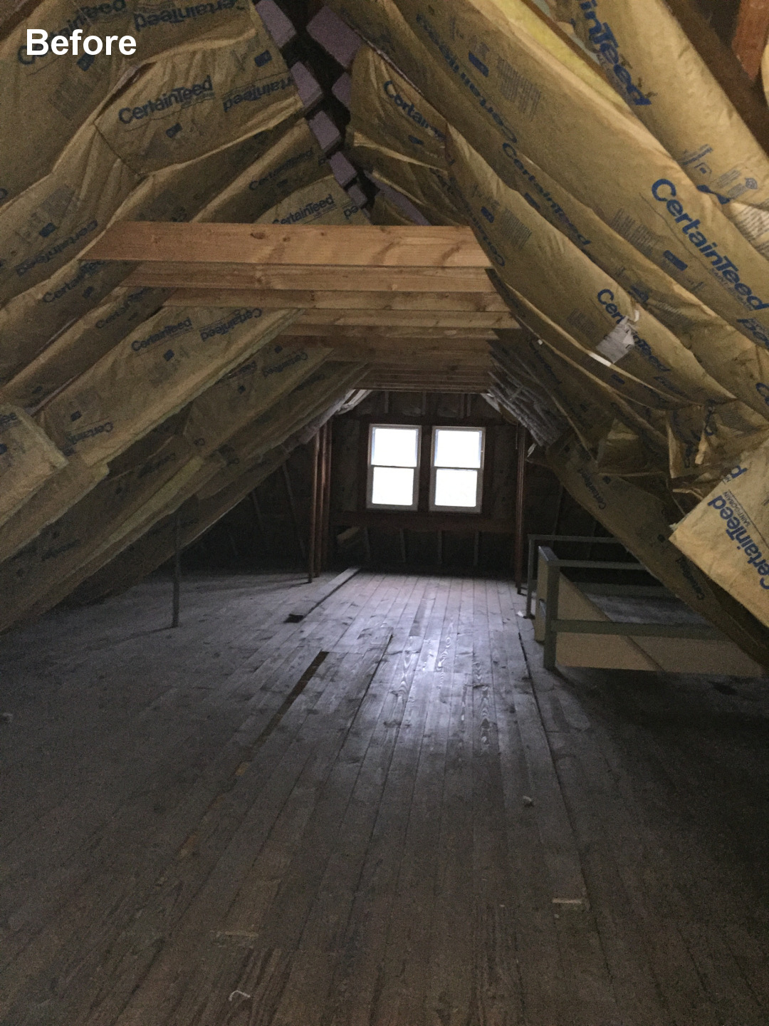 Chicago Unfinished Attic Before