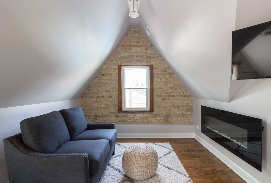 Chicago Finished Attic Sitting Room